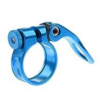 Fityle アルミニウム合金 シートポストクランプ 軽量 31.8mm サイクリングアクセサリー  全5色 - 青
