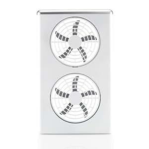 HUGOGATE 6インチ ポータブルツインファン [ 電池式 扇風機 ]