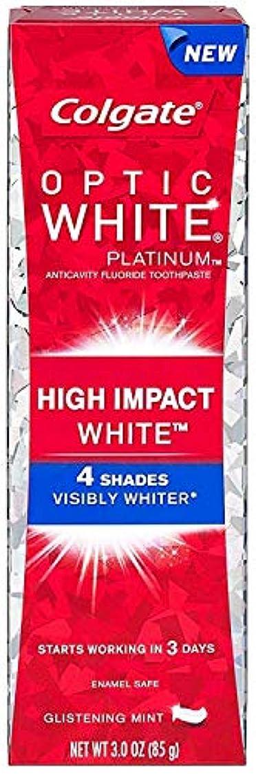 ヶ月目ソブリケット励起Colgate コルゲート High Impact White ハイインパクト ホワイト 85g OPTIC WHITE 4 パック t$e