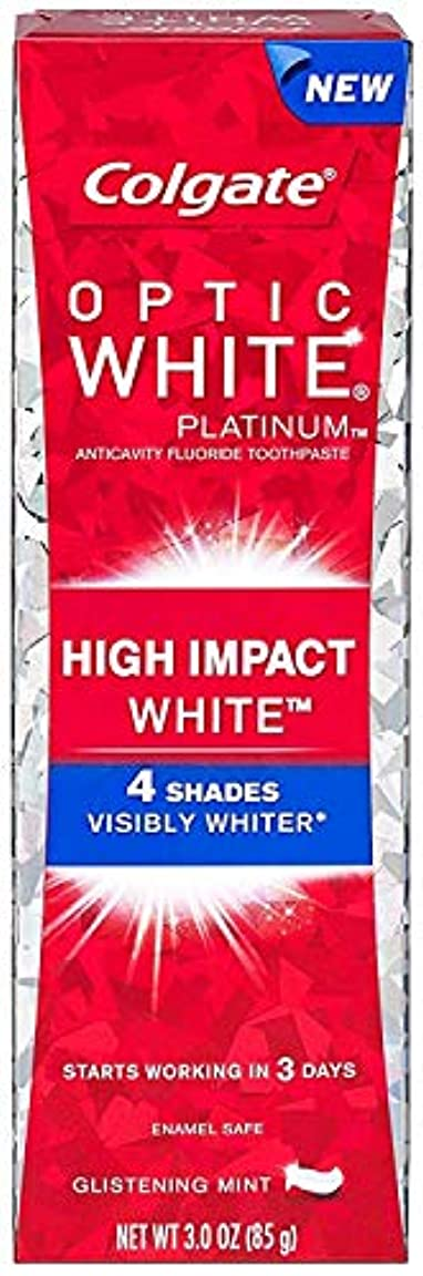 消費者移行一目Colgate コルゲート High Impact White ハイインパクト ホワイト 85g OPTIC WHITE 4 パック t$e