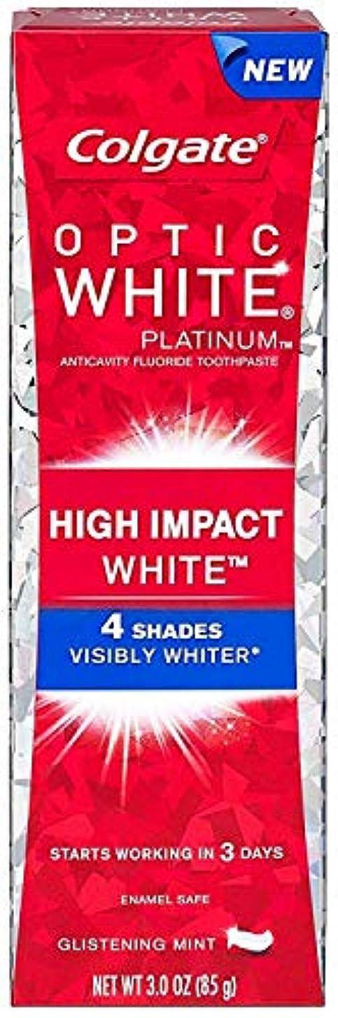 精査急襲材料Colgate コルゲート High Impact White ハイインパクト ホワイト 85g OPTIC WHITE 4 パック t$e