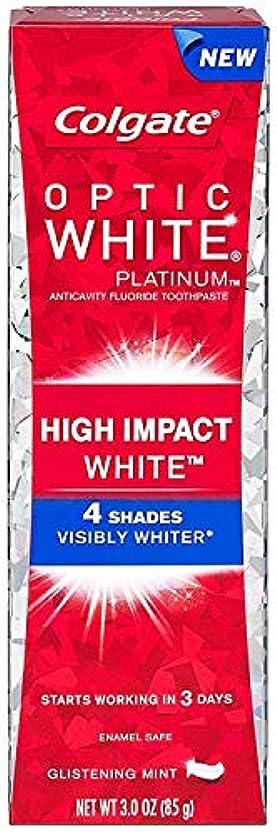 敷居枢機卿後退するColgate コルゲート High Impact White ハイインパクト ホワイト 85g OPTIC WHITE 4 パック t$e