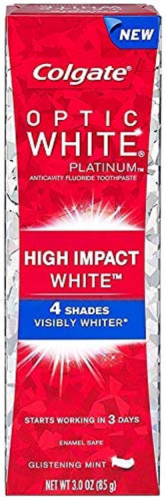 吸収時間表面Colgate コルゲート High Impact White ハイインパクト ホワイト 85g OPTIC WHITE 4 パック t$e