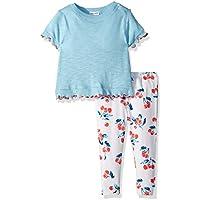 Splendid Baby-Girls RGNS769 Cherry Print Legging Set Short Sleeve T-Shirt Set - Multi