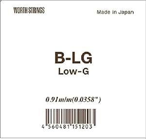 【Worth】 B-LG Low-G 単弦 ブラウンフロロカーボン弦 (ウクレレ用)