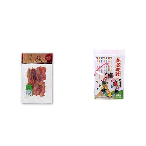 [2点セット] 薫製達人 豚バラベーコン燻製(60g)[飛騨山椒付き]・さるぼぼ七福神ストラップ/縁結び・魔除け //