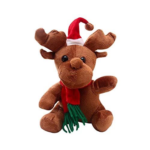 Kongqiabona Christmas Elk Doll Plush Toys Gifts Decorations Small Decorations Musical Dolls