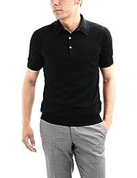JOHN SMEDLEY (ジョンスメドレー) S3798 Polo Shirt SEA ISLAND COTTON (シーアイランドコットン) ポロシャツ BLACK (ブラック) Made in England (イギリス製)