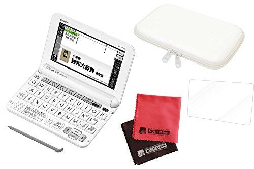 [해외]세트 카시오 전자 사전 독일어 모델 XD-G7100 + 케이스 V-82059 + 액정 보호 필름 + 마이/Set Casio electronic dictionary German model XD-G7100 + case V-82059 + liquid crystal protective film + microfiber cloth