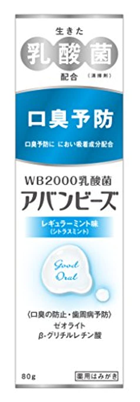 サーバ忙しいラジウムわかもと製薬 アバンビーズ レギュラーミント味 80g