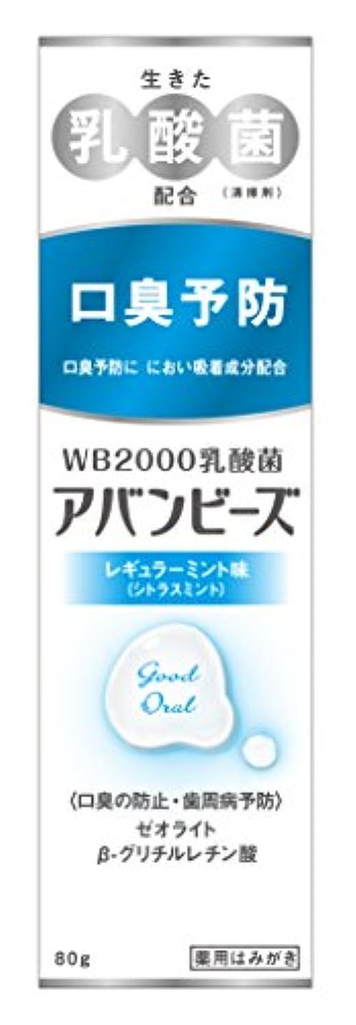 巨大合成ヒントわかもと製薬 アバンビーズ レギュラーミント味 80g