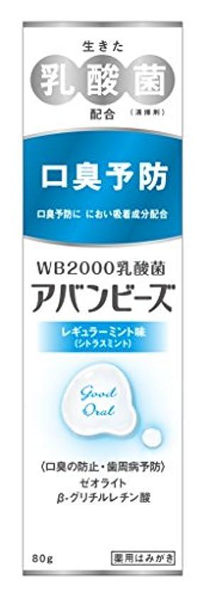 適応的謙虚な内部わかもと製薬 アバンビーズ レギュラーミント味 80g