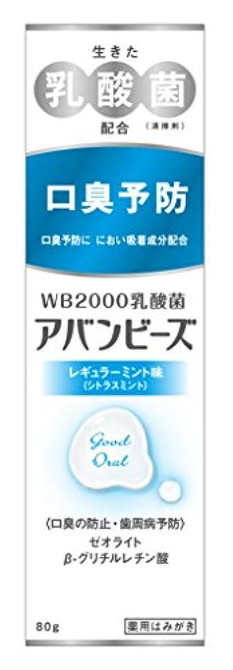 圧力耐久安西わかもと製薬 アバンビーズ レギュラーミント味 80g