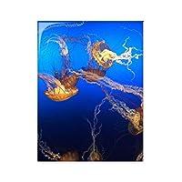 海洋クラゲ科学は自然の写真 台所のタイルタイルが装飾を飾る