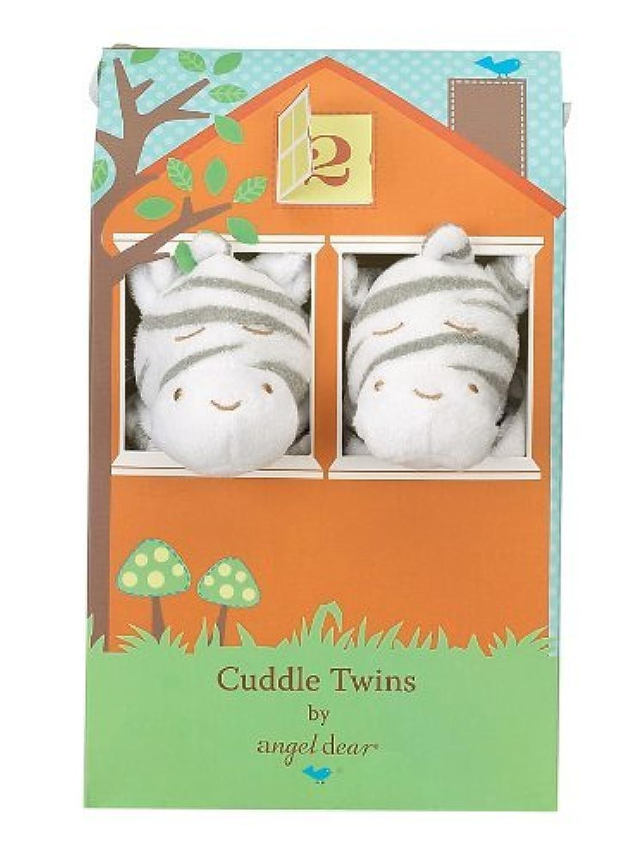 Angel Dear Cuddle Twin Set, Grey Zebra by Angel Dear [並行輸入品]