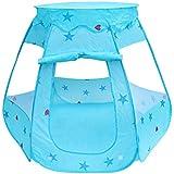 キッズテント 子供用テント おままごとセット 折りたたみ 屋内遊具 アウトドア 簡単組み立て 秘密基地 キッズ 子供用 誕生日 プレゼント 入園祝い 女の子 男の子 ブルー