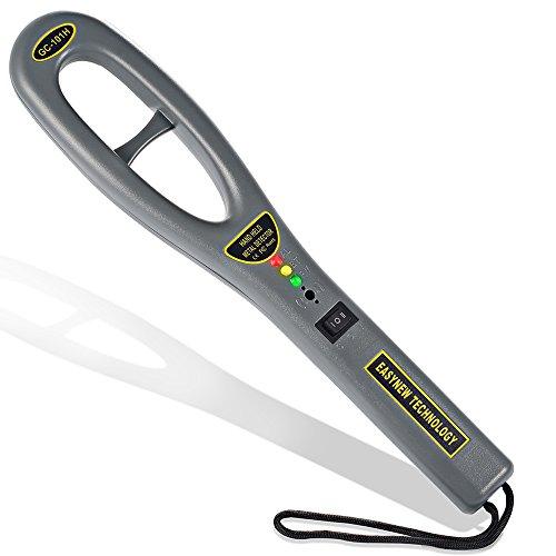 軽量ハンディ金属探知機,C-Timvasion ハンディ高感度 金属探知器 簡単操作 防犯 センサー 警告音 警告振動
