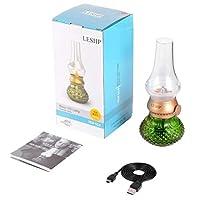 molysun レトロ&ブローUSB充電式ブローコントロール調節可能な明るさLEDナイトライトテーブルランプ(屋内&屋外用)