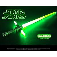 SwordライトRetractable Toy Star Wars Light Saber PVCギフトの表示図面キッズ子供男の子女の子 グリーン