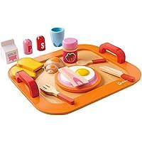 Perfeclan 木製 食べ物モデル 子供のため 食べ物/朝食プレイセット ままごと ミルクトレイセット(16個) 開発教育おもちゃ 子供/幼児/男の子/女の子のため 学習おもちゃ 贈り物