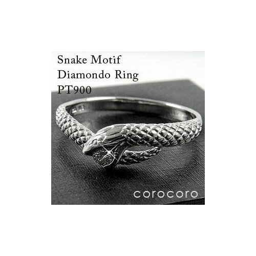 スネークダイヤモンドリング指輪開運白蛇リング天然ダイヤモンドリングプラチナリング