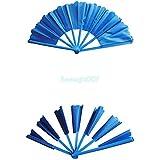 破損したファン - オリエンタルブルー Broken-Restored Fan-Oriental Blue -- ステージマジック