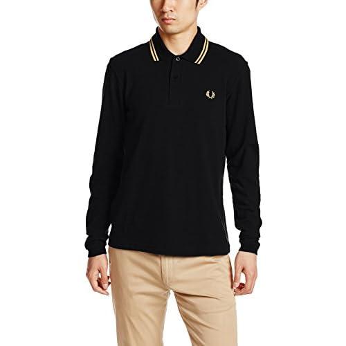 (フレッドペリー)FRED PERRY L/S TWIN TIPPED FRED PERRY SHIRT M7115 157 157BLACK/CHAMPAGNE 36 ポロシャツ