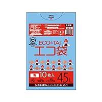 サンキョウプラテック エコ袋 45L 0.030厚 青 10枚入×60冊 LN-41