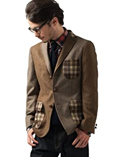 Crazy Tweed Jacket 3122-186-0398: Dark Brown