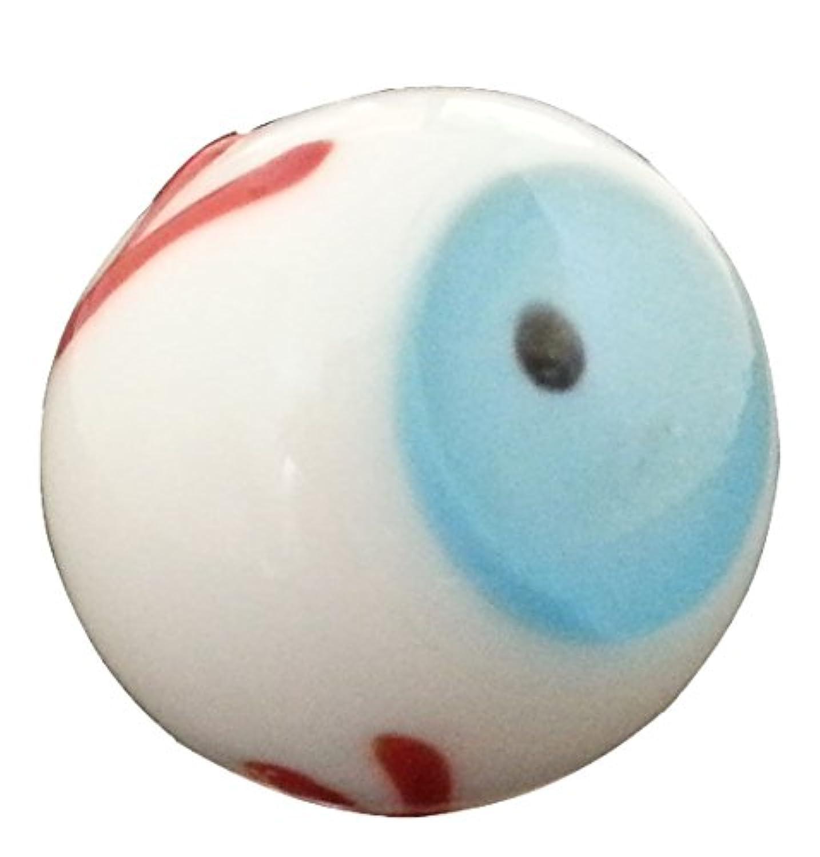 20 mmハンドメイドアートガラスのビー玉眼球セット3 W /スタンド