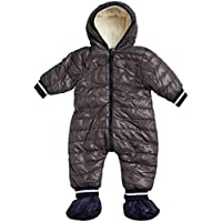 URBAN REPUBLIC Infant Boys' Sherpa Lined Puffer Snowsuit Pram with Booties