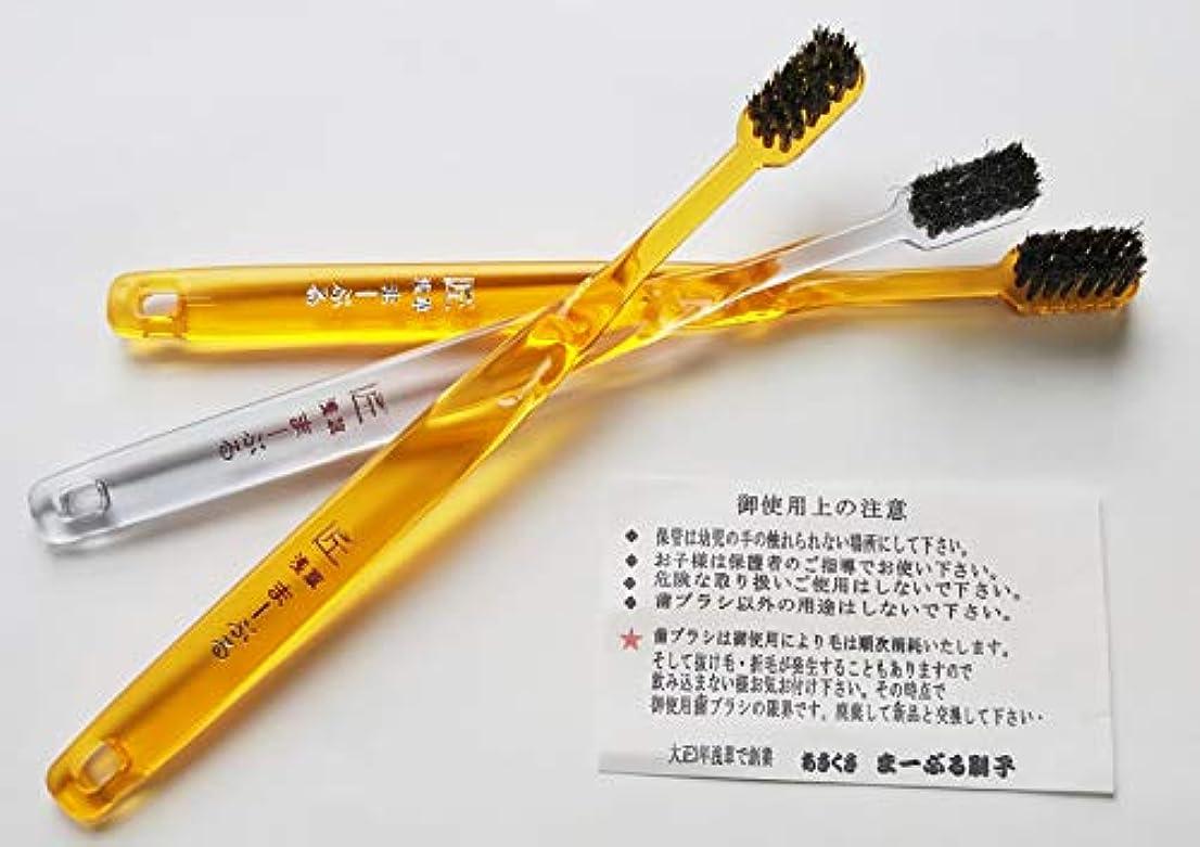 磁器シャックル二層浅草まーぶる刷子 匠 馬毛歯ブラシ お試し3本セット (普通2?柔らか1)
