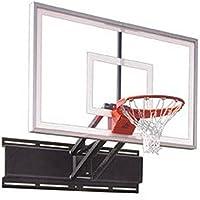 最初チームUnichamp選択steel-acrylic調整可能壁マウントバスケットボールsystem44、ロイヤルブルー