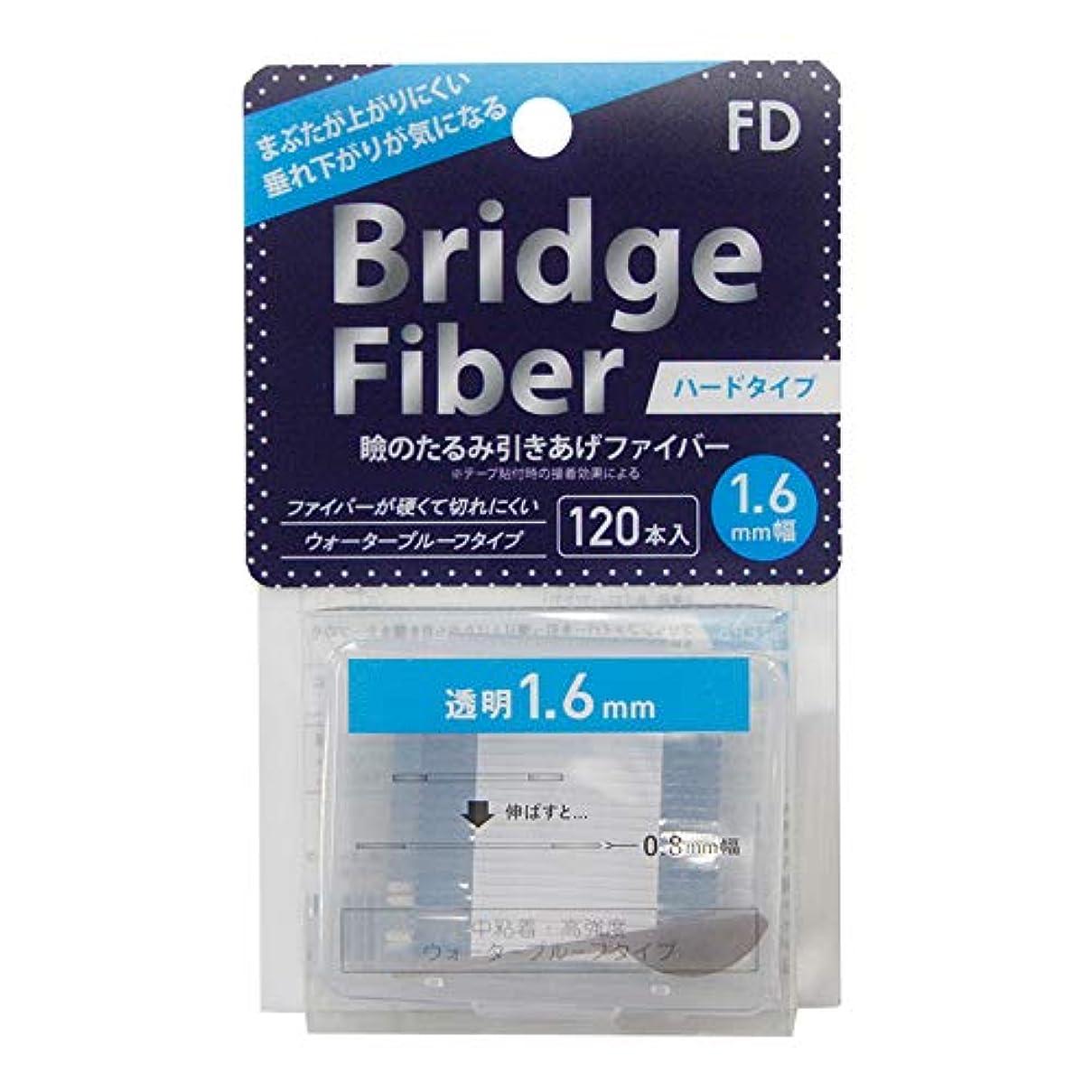 スケートマインド豊かなFD ブリッジハードファイバー 眼瞼下垂防止テープ ハードタイプ 透明1.6mm幅 120本入り