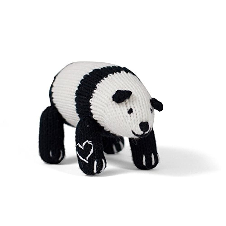 Estella Hand Knit Organic Panda Rattle Baby Toy by Estella, Designed for Children