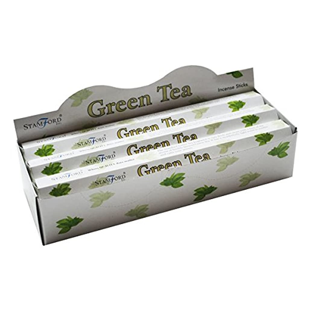 37143 StamfordプレミアムHex範囲Incense Sticks – Green Tea