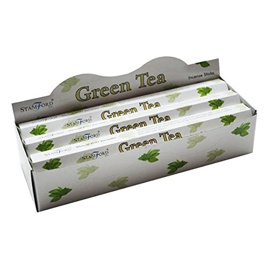 スリル再現する分数37143 StamfordプレミアムHex範囲Incense Sticks – Green Tea