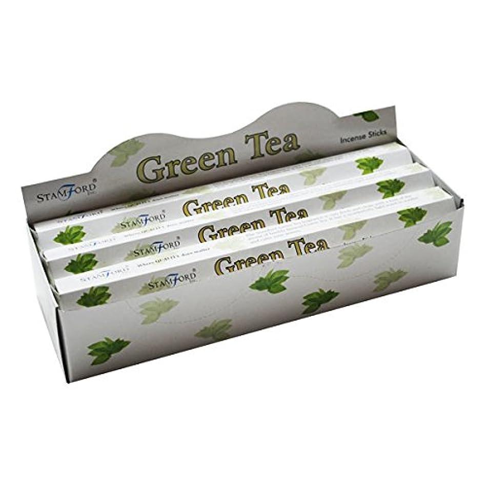 アクティビティ全体にキャンドル37143 StamfordプレミアムHex範囲Incense Sticks – Green Tea