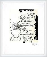 ポスター ジョルジュ ブラック La Forme 1917/47 限定1000枚 額装品 ウッドハイグレードフレーム(ホワイト)