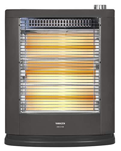 山善 遠赤外線電気ストーブ(990W/660W/330W 3段階切替) ブラックメタリック DSE-C106(B)
