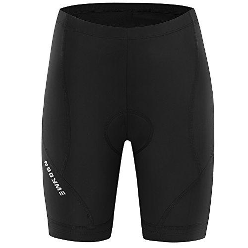NOOYME Womens Bike Shorts Bicycle Padding Women Cycling Shorts (Black, L)