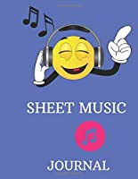 Sheet Music Journal: Large colorful 8.5 by 11 sheet music journal