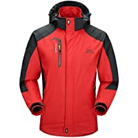 BIYLACLESEN Waterproof Jacket Mens Outdoor Lightweight Softshell Hiking Rain Jackets