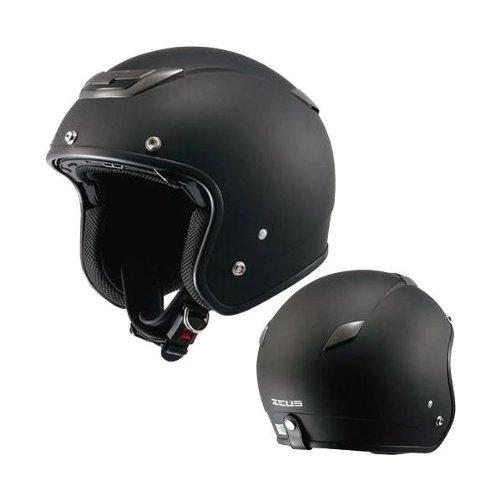 ナンカイ(NANKAI) ZEUS ジェットヘルメット(インナーバイザー装備) マットブラック フリー NAZ201MB
