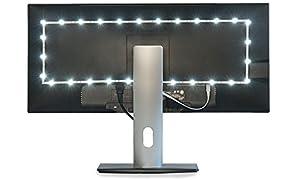 Luminoodle Bias Lighting TV Backlight Strip - 6000K USB Powered LED Ambient Light to Reduce Eye Strain, Improve Contrast (Medium (6.5 ft), White)