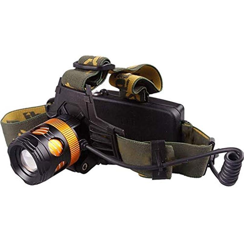 おじさん多分好みYDXYZ LEDヘッドランプ、軽量で快適な全天候型セーフティヘッドランプ、多機能登山釣りスーパーブライトズームヘッドライトアジャスタブルヘッドストラップ90度調整可能なビーム角度