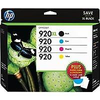 HP 920XL/920 (D8J68FN) High Yield Black and Standard CMY Color Ink Ctdg. w/Media Value Kit, 4/Pack [並行輸入品]