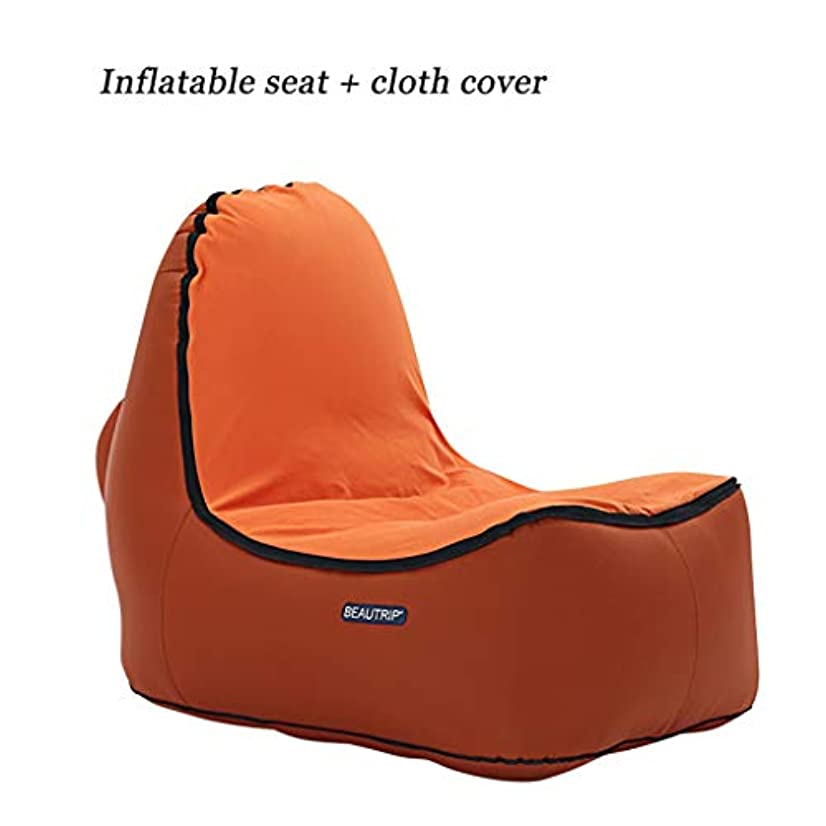 きつく抱擁臨検膨脹可能なソファー、空気ポンプは必要ありません携帯用折りたたみキャンプのビーチの正午の空気のベッドから選ぶべき4つの様式 (色 : A)