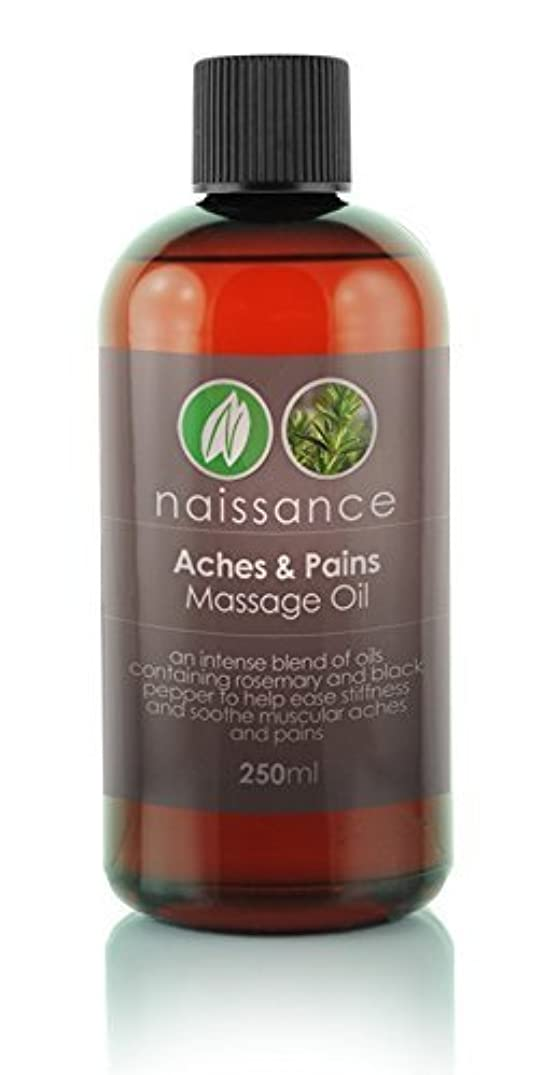 暗黙ウォーターフロント入植者250ml Aches and Pains Massage Oil by Naissance