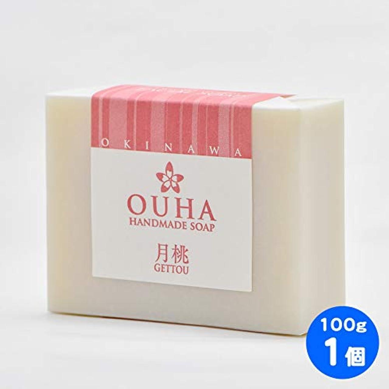 アクチュエータ壮大なとは異なり【送料無料 定形外郵便】沖縄県産 OUHAソープ 月桃 石鹸 100g 1個